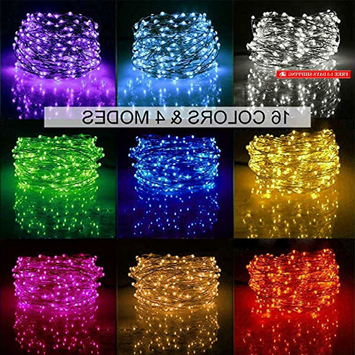 Ustellar 33ft RGB LED String Lights, Outdoor