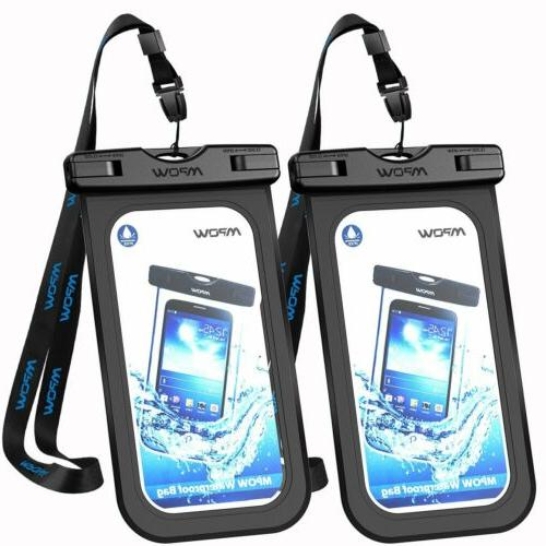 Mpow 2Pc Waterproof Floating Bag Underwater Cell Phone Pouch