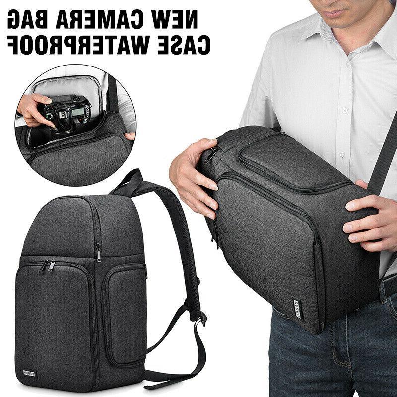 Camera Bag Case Waterproof Sling Backpack for Canon Nikon So
