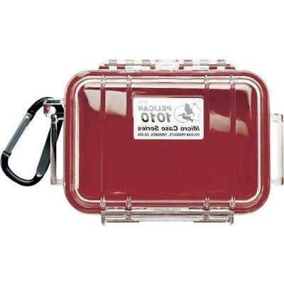 waterproof case 1010 micro case red clear