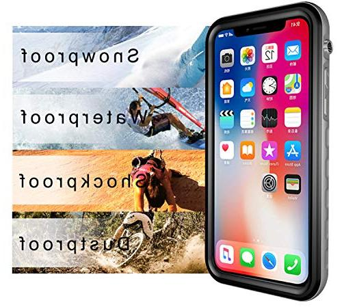 HESGI for Apple iPhone XS , Snowproof Dustproof iPhone inch Black and Clear
