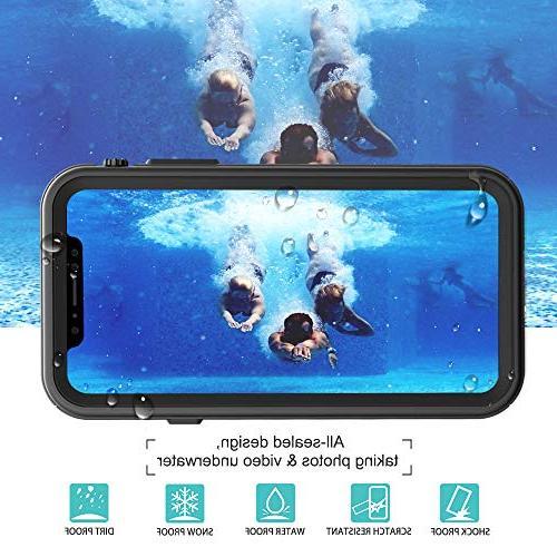 HESGI Waterproof for Apple MAX , Waterproof Snowproof iPhone XS 6.5 inch Back Clear