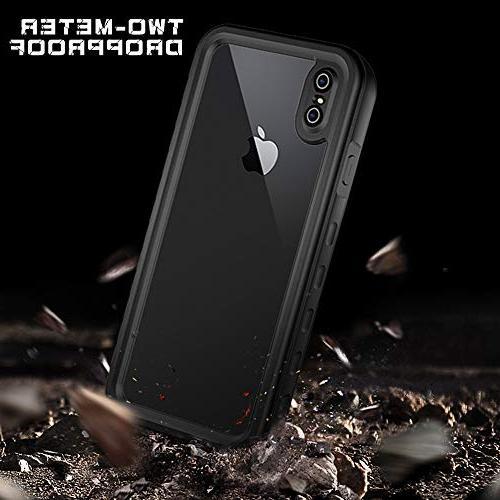 HESGI Waterproof Case Apple iPhone XS MAX , Waterproof Shockproof Snowproof Dustproof iPhone XS MAX 6.5 inch Clear