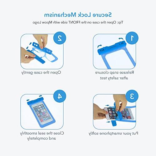 Mpow Waterproof Type Case, Universal Bag for iPhone8/8 Plus/7/7 Plus/ Galaxy/ HTC