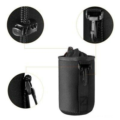 Waterproof Camera Lens Pouch Protector Case Black