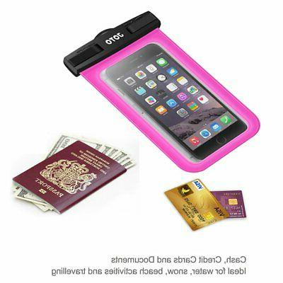 Waterproof Pouch Dry Case Universal Up Inch Magenta