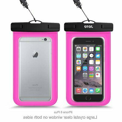 Waterproof IPX8 Pouch Cellphone Dry Up To Magenta