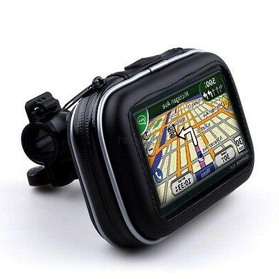 Waterproof Motorcycle Handlebar Mount Holder Case Bag for 4.