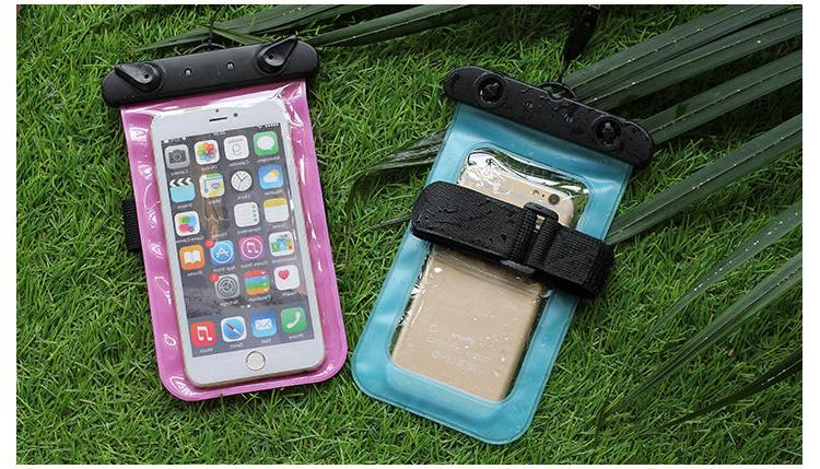 Waterproof phone Case, 2 Colors Pack Universal Clear Arm Ban