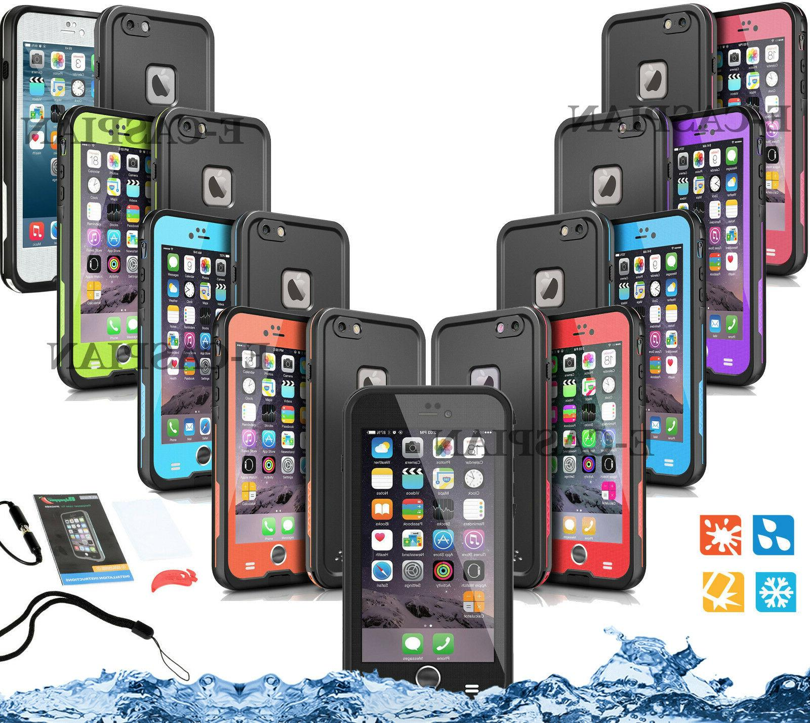 WATERPROOF SHOCKPROOF CASE For iPhone 6 6S Plus