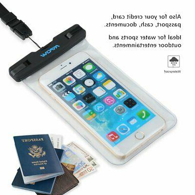 Mpow Waterproof Underwater Phone Dry Case Bag Touch Screen Pouch