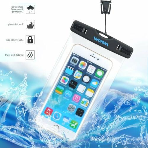 Mpow Waterproof Underwater Phone Dry Case Bag Touch Screen P