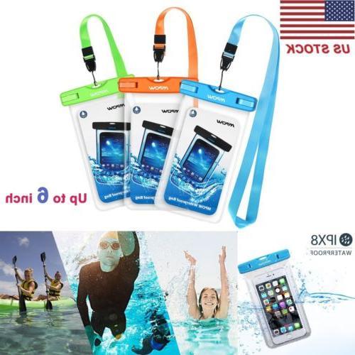waterproof underwater phone dry case touch screen