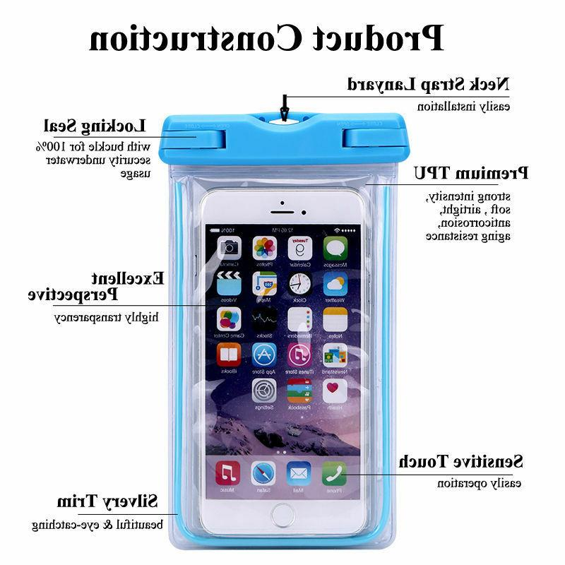 Waterproof Phone Pouch Bag Case Cover For iphone