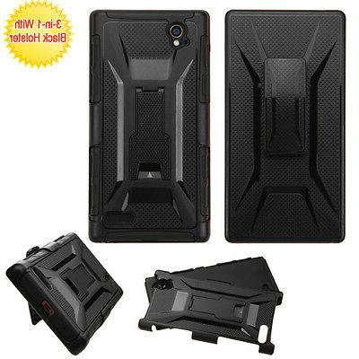 ZTE Warp Elite Belt Clip Holster Combo Cell Phone Case with