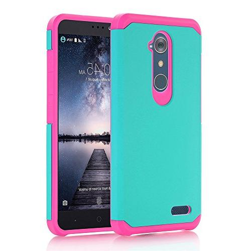 outlet store 71d40 bde9e ZTE ZMax Pro Case, ZTE Grand X Max 2 Case, ZTE Imperial Max Case, VPR 2 in  1 Dual Layer Armor Heavy Duty Defender Cover Plastic Shell + TPU Protection  ...