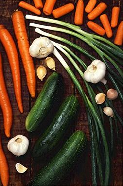 LAMINATED 24x36 Poster: Vegetables Cucumbers Carrots Onions