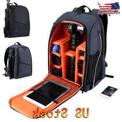 Large Waterproof DSLR Camera Backpack Shoulder Bag Case For