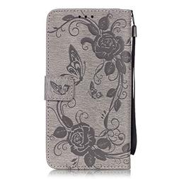IKASEFU Leather Case with Strap for Samsung Galaxy S6 Edge P