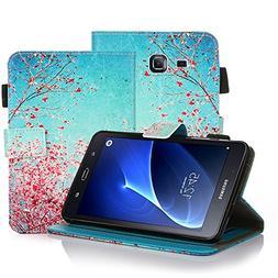 LeCase Galaxy Tab A Case , Card Slots, Magnetic Closure, Fli