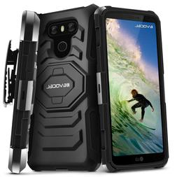 LG G6 Case, Evocel Rugged Dual Layer Holster Case with Kicks