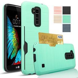 LG K10/Premier LTE Case,,AnoKe  Hard Plastic PC TPU Soft Hyb