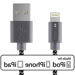 iCASEIT Lightning Cable  Quick Charge & Sync Charger Cord Pe