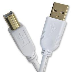 IPAX Hi-Speed High Performance USB Printer Cable, Gold Plate