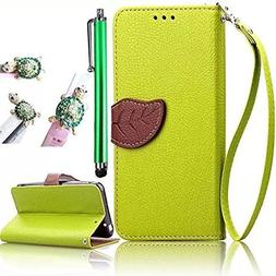 Vandot Luxury Elegant Premium Pu Leather Green Wallet Leaf D