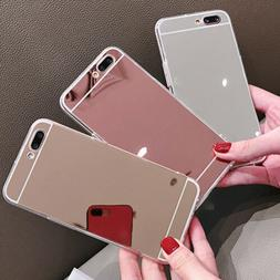 Luxury Silicone Mirror Soft Phone Cover Bumper Back Case For