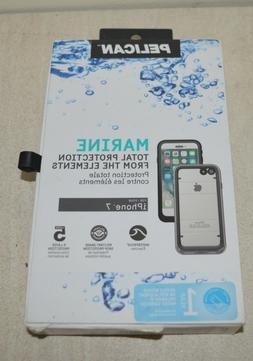 New Original PELICAN Marine Waterproof Case Black/Clear for