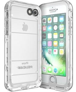 Pelican Marine Waterproof Case for iPhone 8/7 Case, White/Cl
