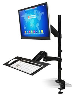Mount-It! MI-7921 Sit-Stand Desk Mount Workstation, Height A