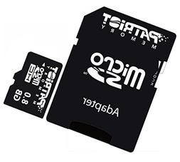 8GB MicroSDHC Memory Card for Midland XTC XTC280VP Wearable