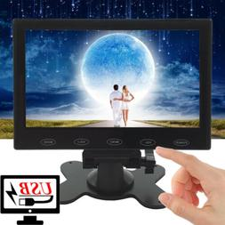 "Mini 7"" LCD CCTV Monitor USB Power 5V/2A 1080p AV/RCA/VGA/HD"