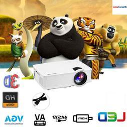 MINI LED/LCD Projector FHD 1080P 7000Lumens 3D Home Cinema H