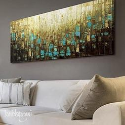 Abstract Art PRINT Wall Art Mid Century Modern Brown Canvas-
