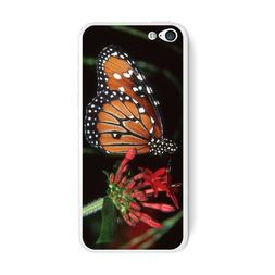 Graphics and More Monarch Butterfly On Red Flower Protective