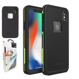 NEW Top Lifeproof Fre Waterproof Case/Cover iPhoneX Black/Gr