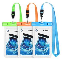 Phone Bag Pouch Set 3 Pack Submersible Waterproof Case Dry D