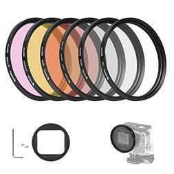 D&F 58mm Professional Photography Filter Kit Underwater Lens