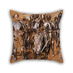 NICEPLW Pillow Cases Of Oil Painting Adolf Menzel - 'Armor C