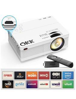 QKK Portable LCD Projector 2800 Brightness  F...