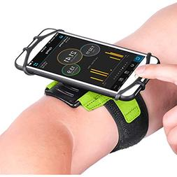 Newppon 180° Rotating Armband with Waterproof Bag & for App