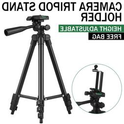 Professional Adjustable Black Camera Tripod Stand+Cell Phone