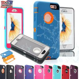 For iPhone 7 8 6 Plus SE Case Hybrid Full Shockproof Heavy D