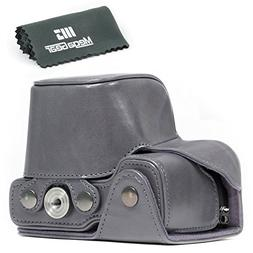 """MegaGear """"Ever Ready"""" Leather Camera Case – Easy to Instal"""