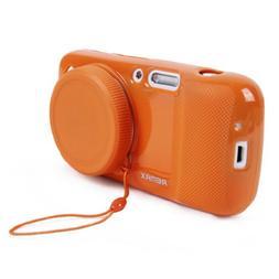REMAX Protective Soft Orange Case w Camera Lens Cover for Sa