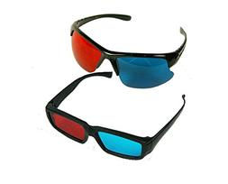 BIRUGEAR 2x Red and Cyan Glasses Fits over Most Prescription