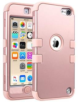 Rose Gold Hybrid Protective Shockproof Cover Case For Apple